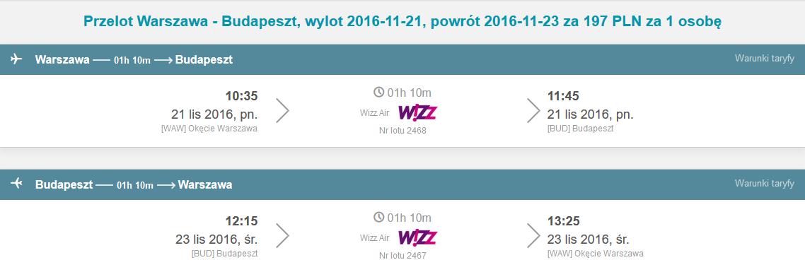 WAW - BUD - WAW 127