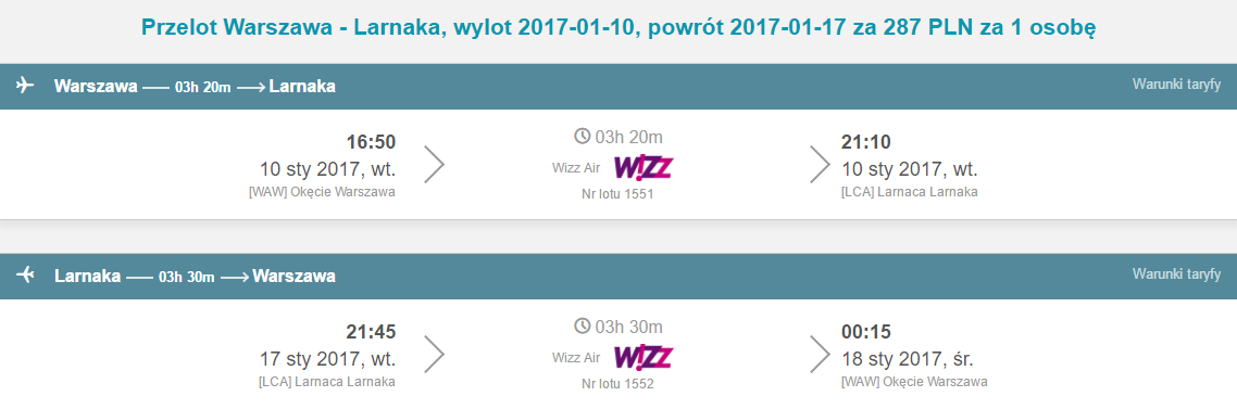 WAW-LCA-WAW 218
