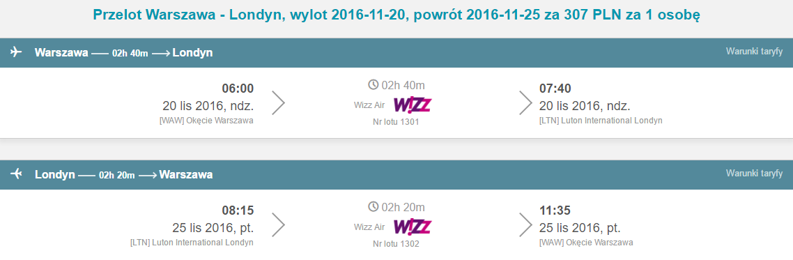 WAW-LTN-WAW 238