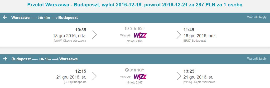 WAW-BUD-WAW 218