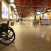 Wózek inwalidzki na lotnisku