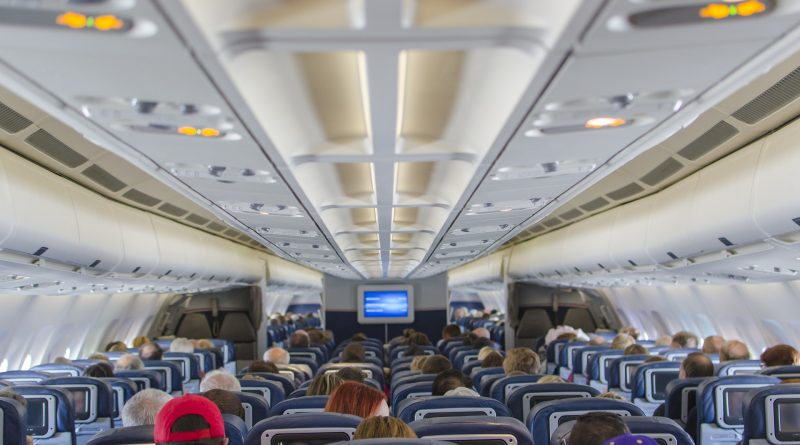 Blokada foteli w samolotach.