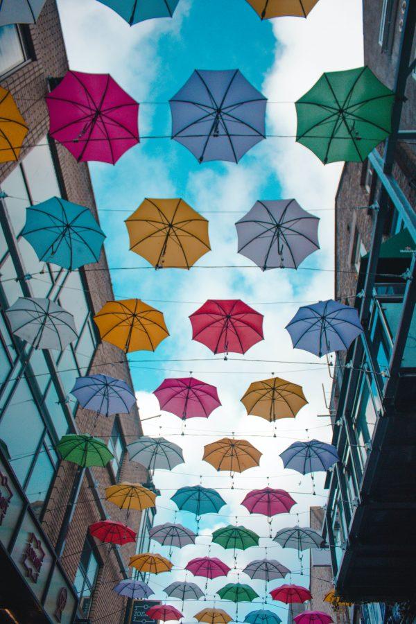 ulica parasoli w Dublinie