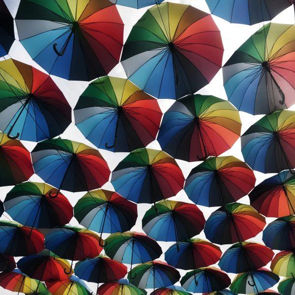 ulica parasoli na Ukrainie