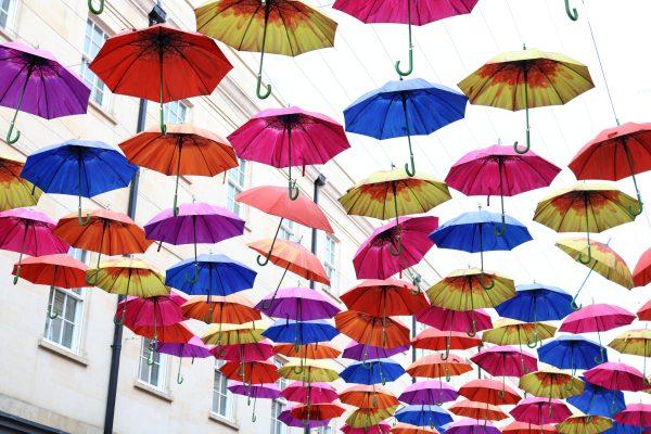 ulica parasoli w Wielkiej Brytanii