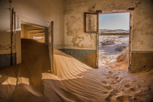 Kolmanskop. Opuszczone miejsca.